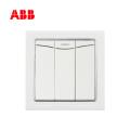 ABB开关插座德宁系列白色三位双控带装饰线带灯开关 10AX