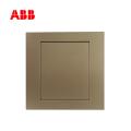 ABB开关插座永致系列朝霞金单连空白面板