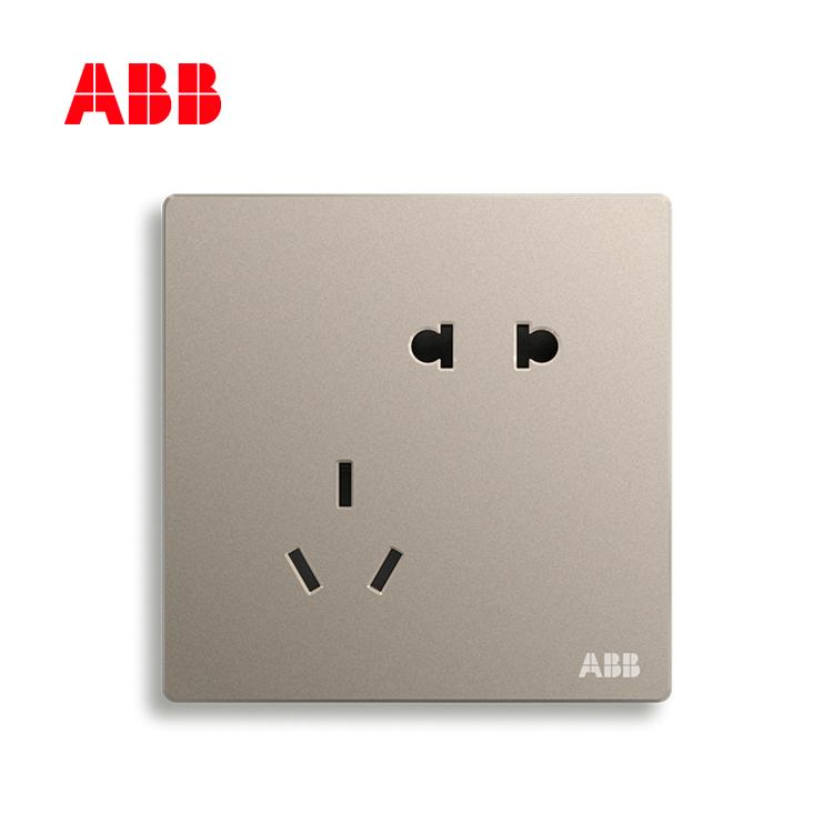 开关插座轩致朝霞金二位中标五孔插座AF205-PG;10183506