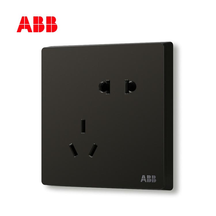 开关插座轩致星空黑二位中标五孔插座AF205-885;10183616