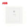 ABB开关插座永致系列白色一位八芯电脑插座6类 RJ45