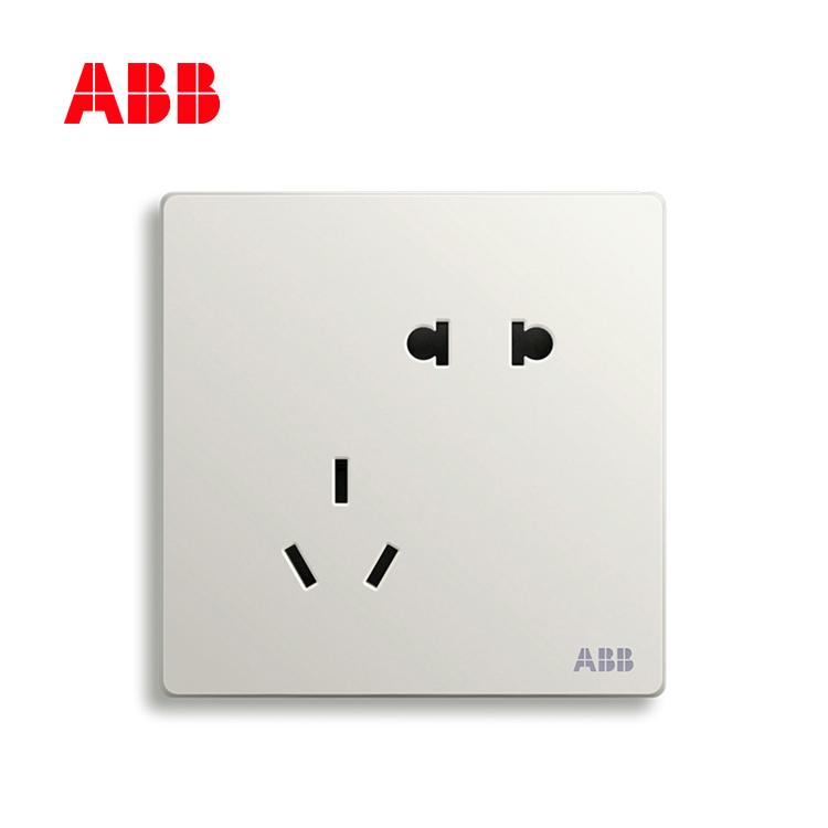 开关插座轩致雅典白二位中标五孔插座AF205;10183450