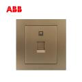 ABB开关插座永致系列朝霞金一位八芯电脑插座