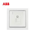 ABB开关插座德宁系列白色一位八芯6类电脑插座